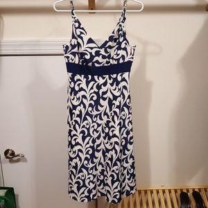 Ann Taylor navy/white dress, size 2